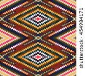 vector seamless pattern ... | Shutterstock .eps vector #454984171
