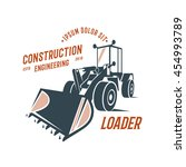 loader emblem  construction...   Shutterstock .eps vector #454993789