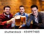 portrait of male friends... | Shutterstock . vector #454997485