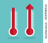 temperature with thermometer | Shutterstock .eps vector #454998514