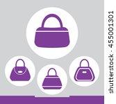 women bag icon set | Shutterstock .eps vector #455001301