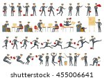 collection of business people...   Shutterstock .eps vector #455006641