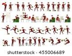 large vector set of businessman ... | Shutterstock .eps vector #455006689
