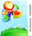 party balloons decorated with... | Shutterstock .eps vector #45500689