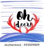 Oh Deer  Lettering For T Shirt...