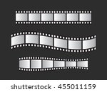 slide film frame set  film roll ... | Shutterstock .eps vector #455011159