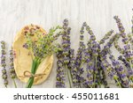 lavender soap and flower
