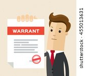 man in suit  lawyer shows a... | Shutterstock .eps vector #455013631