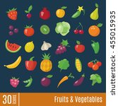 flat icons in fruits and... | Shutterstock .eps vector #455015935