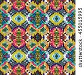 ethnic seamless pattern. ethnic ... | Shutterstock . vector #455015995