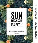 bright hawaiian design with...   Shutterstock .eps vector #455020711