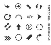 arrow icons. vector set of... | Shutterstock .eps vector #455021281