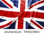 closeup of british union jack... | Shutterstock . vector #455023801