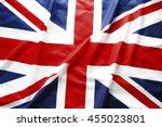 closeup of british union jack... | Shutterstock . vector #455023801