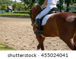 unknown rider in action on a... | Shutterstock . vector #455024041