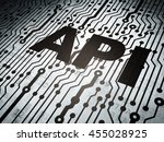 software concept  circuit board ... | Shutterstock . vector #455028925