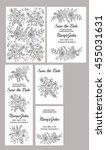 wedding invitation vector... | Shutterstock .eps vector #455031631