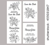 wedding invitation vector... | Shutterstock .eps vector #455031847