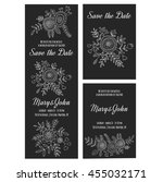wedding invitation vector... | Shutterstock .eps vector #455032171