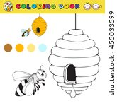 coloring book page template...   Shutterstock .eps vector #455033599