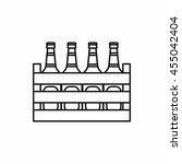 case crate beer box icon. line... | Shutterstock .eps vector #455042404