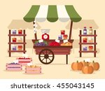 local autumn products at... | Shutterstock .eps vector #455043145