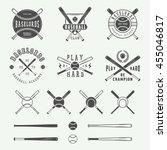 vintage baseball logos  emblems ... | Shutterstock .eps vector #455046817