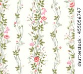 seamless floral pattern with... | Shutterstock .eps vector #455056747