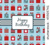 seamless wrapping paper  with... | Shutterstock .eps vector #45505741