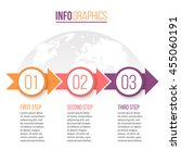business infographics. timeline ... | Shutterstock .eps vector #455060191