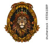 vector color lion king... | Shutterstock .eps vector #455061889