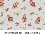 trendy seamless floral pattern... | Shutterstock .eps vector #455073451