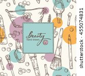 beauty background with... | Shutterstock .eps vector #455074831
