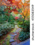 autumn at koto in a sub temple... | Shutterstock . vector #455083549