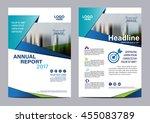 blue brochure layout design... | Shutterstock .eps vector #455083789