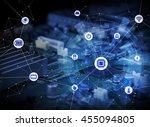 wired icons of various electric ... | Shutterstock . vector #455094805