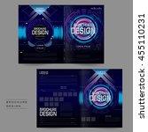 futuristic bi fold brochure...   Shutterstock .eps vector #455110231