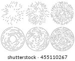 set of radiating and concentric ... | Shutterstock .eps vector #455110267