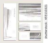 graceful banner template design ...   Shutterstock .eps vector #455110321
