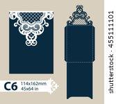 layout congratulatory envelope... | Shutterstock .eps vector #455111101