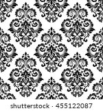damask seamless floral pattern. ... | Shutterstock .eps vector #455122087