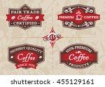 coffee labels set | Shutterstock .eps vector #455129161