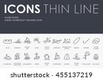 water sports thin line icons | Shutterstock .eps vector #455137219