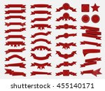 big set of embroidered red... | Shutterstock .eps vector #455140171