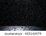 dark background shot of rain... | Shutterstock . vector #455143579