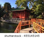 ancient house   lake  | Shutterstock . vector #455145145