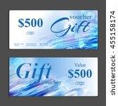 gift voucher template. can be... | Shutterstock .eps vector #455158174