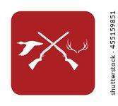hunting club logo icon. vector... | Shutterstock .eps vector #455159851