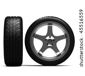 3d tires and allow wheels | Shutterstock . vector #45516559