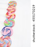 close up of colorful  handmade... | Shutterstock . vector #455173219